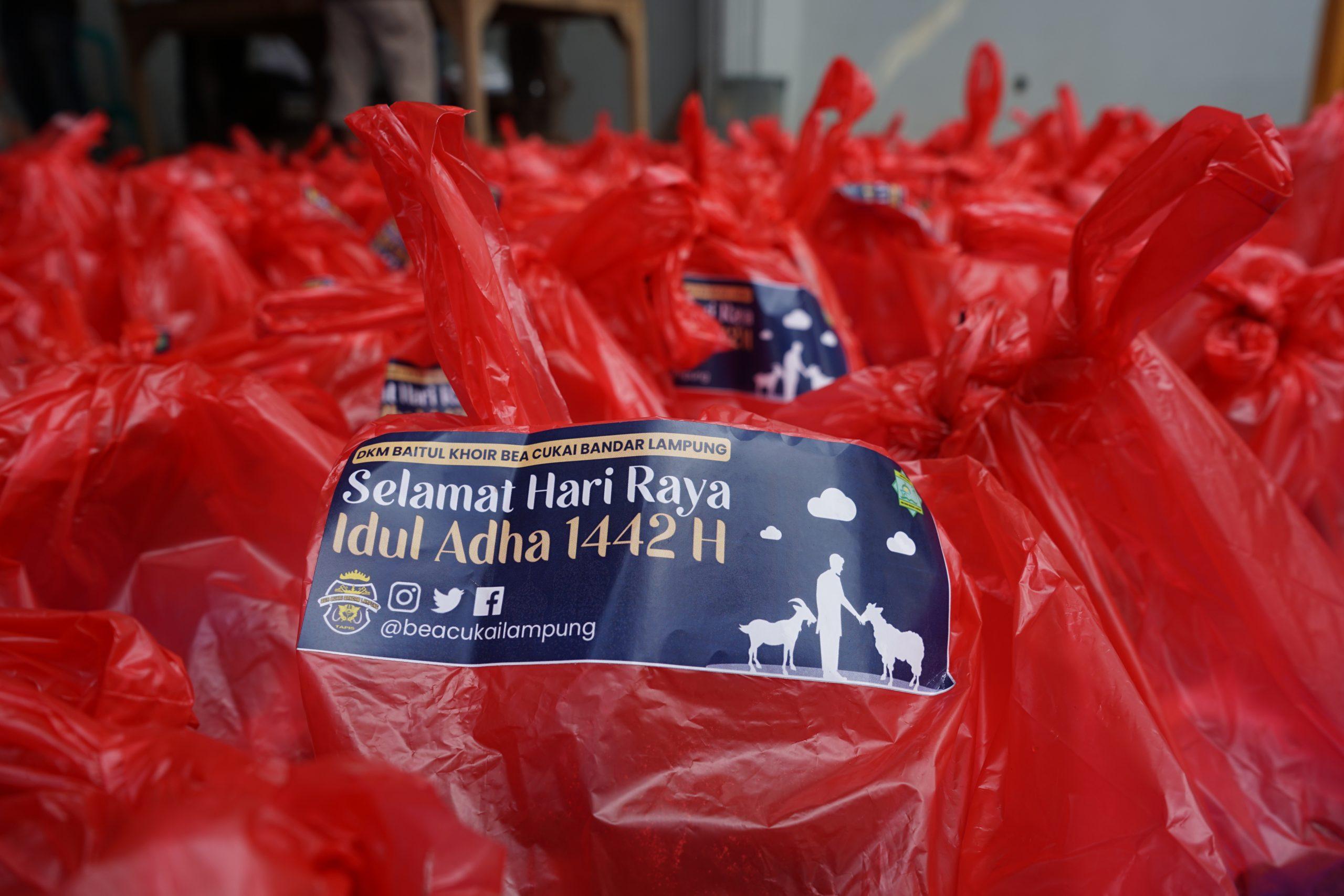 Disembelih melalui RPH, Bea Cukai Lampung Salurkan Daging hasil Qurban Idul Adha 1442 H