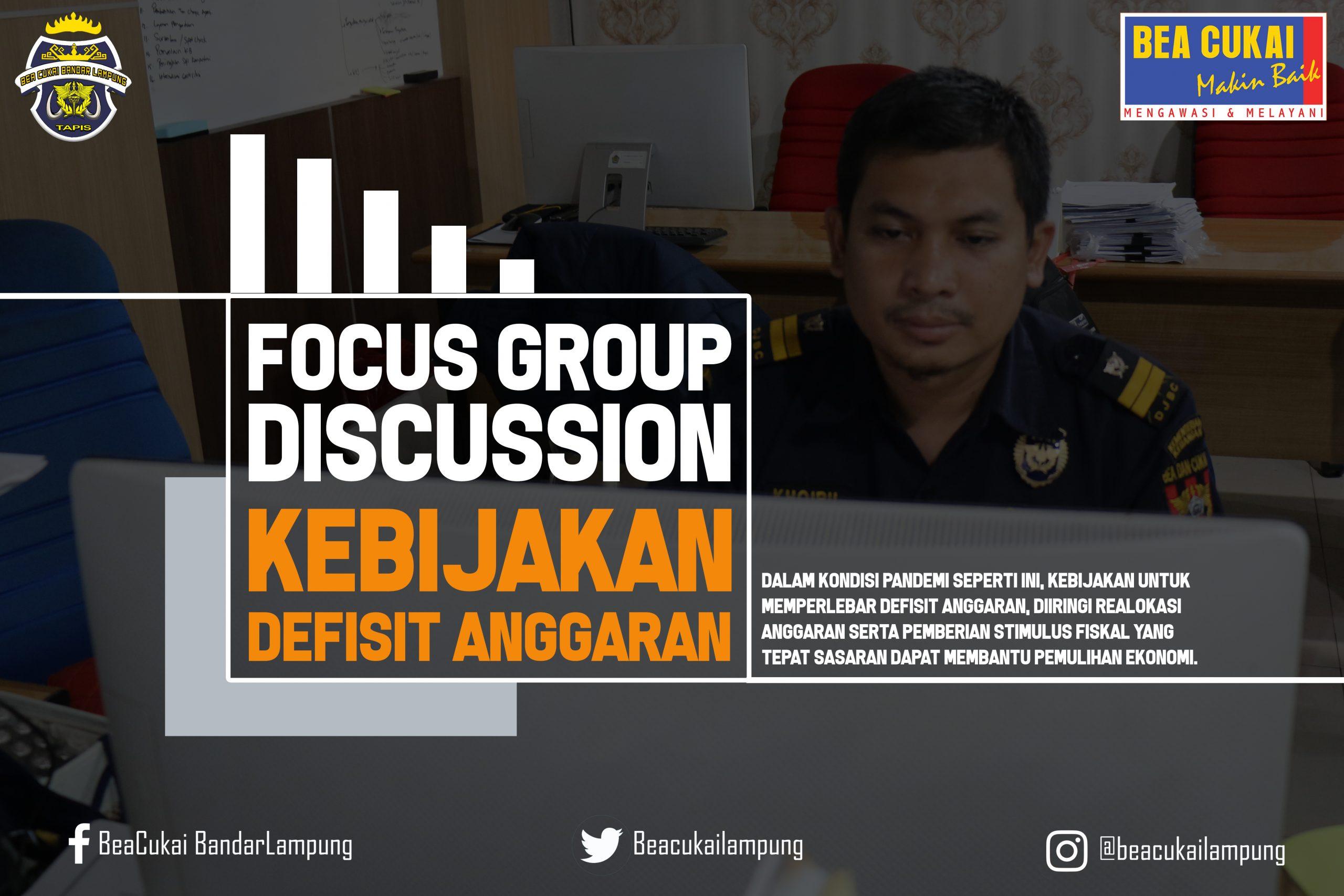 Genjot Pemulihan Ekonomi, Bea Cukai Lampung Adakan Diskusi Kebijakan Defisit Anggaran
